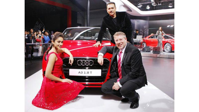 Audi India unveiled its eagerly-awaited A3 sedan at Expo