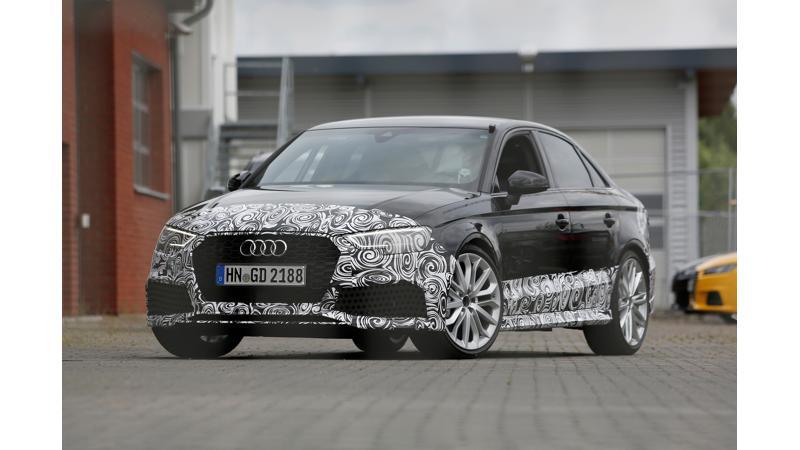 Audi RS3 sedan spotted on test
