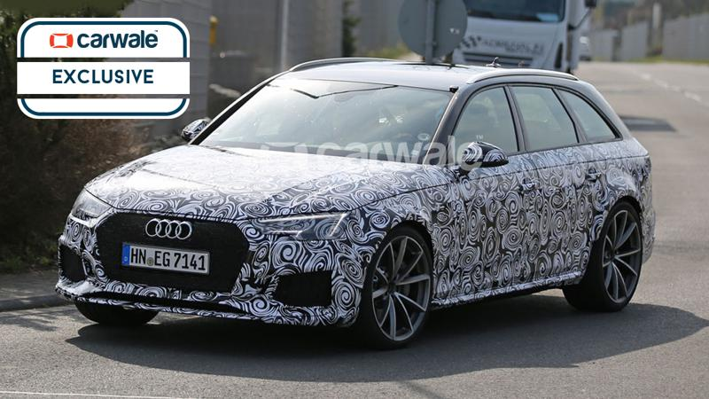 Audi RS4 Avant spied testing