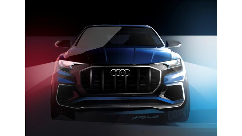 Audi teases Q8 E-Tron concept ahead of Detroit Auto show debut