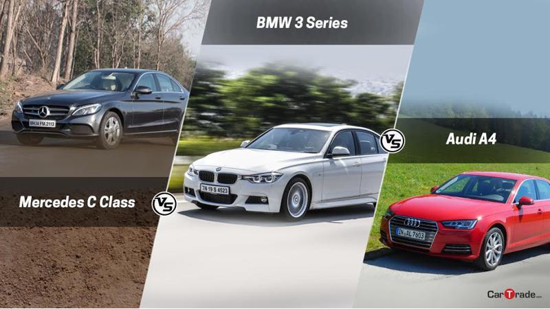 Audi A4 Vs Mercedes C-Class Vs BMW 3 Series - Comparison between premium diesel sedans