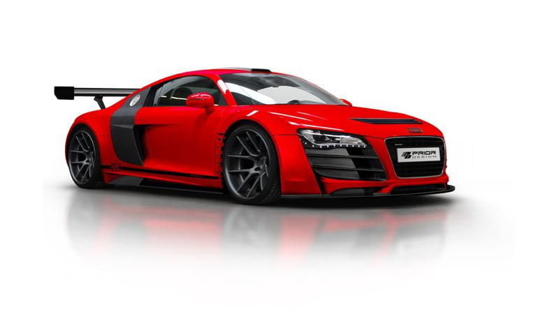 Battle between Volkswagen's cousins:  Audi R8 vs Porsche Cayenne