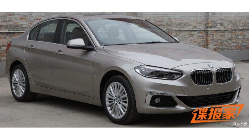 BMW 1 Series sedan production version spotted in China