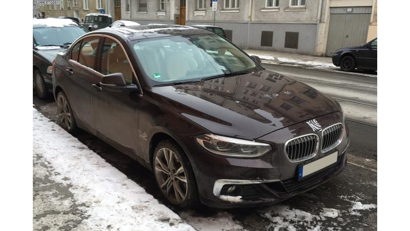 BMW 1 Series saloon spotted in Germany with hidden badges