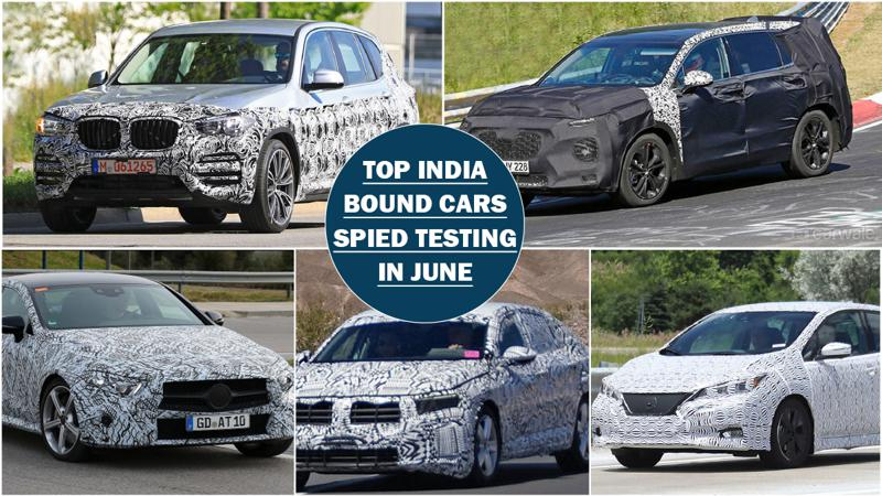 Spy shots round up: Top 5 India destined cars