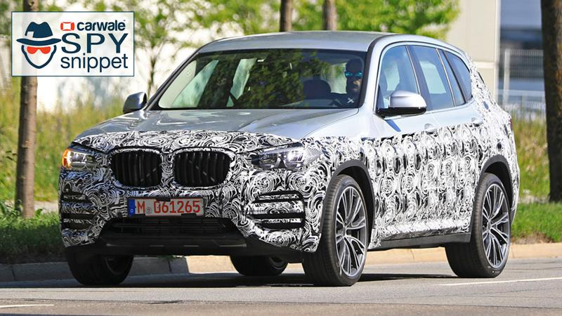 2018 BMW X3 spotted testing