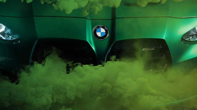 New BMW M3 teased in green colour ahead of official unveiling