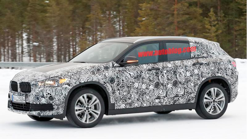 BMW X2 snapped testing in cold weather