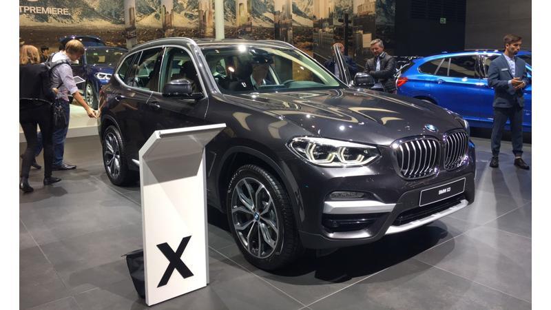 Frankfurt Auto Show 2017: BMW showcases new-gen X3