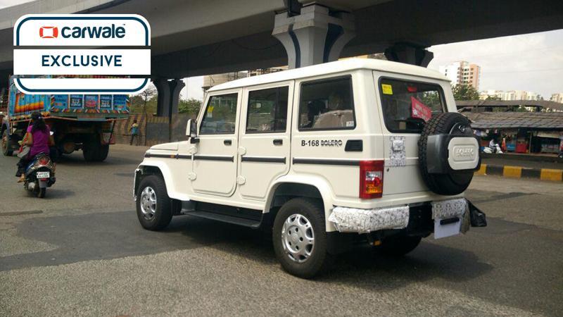 Mahindra Bolero facelift spotted on-test