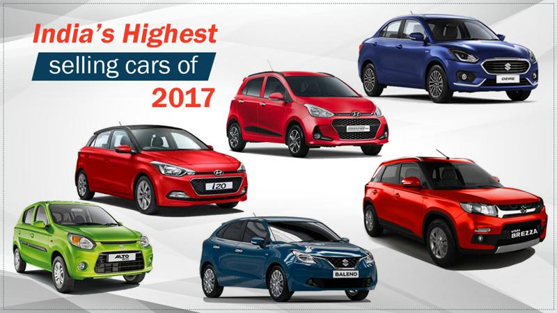 Highest selling cars of India