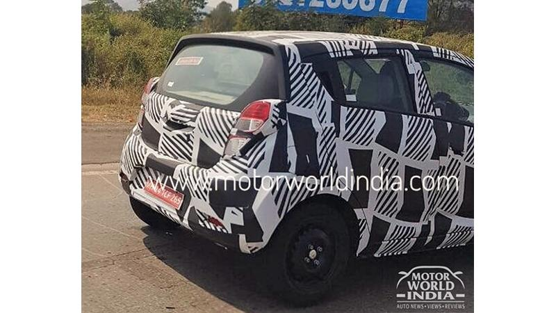 Upcoming Chevrolet Beat sheds camouflage to reveal rear design