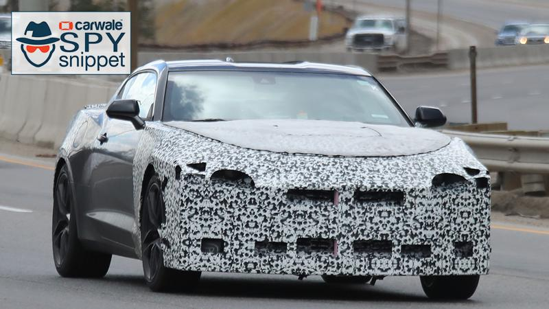 Facelifted Chevrolet Camaro spied testing with less camouflage
