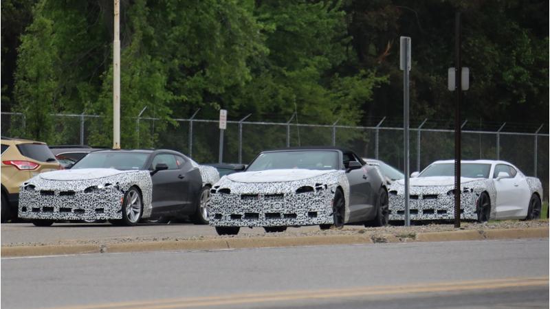 Chevrolet caught testing their entire 2019 Chevrolet Camaro lineup