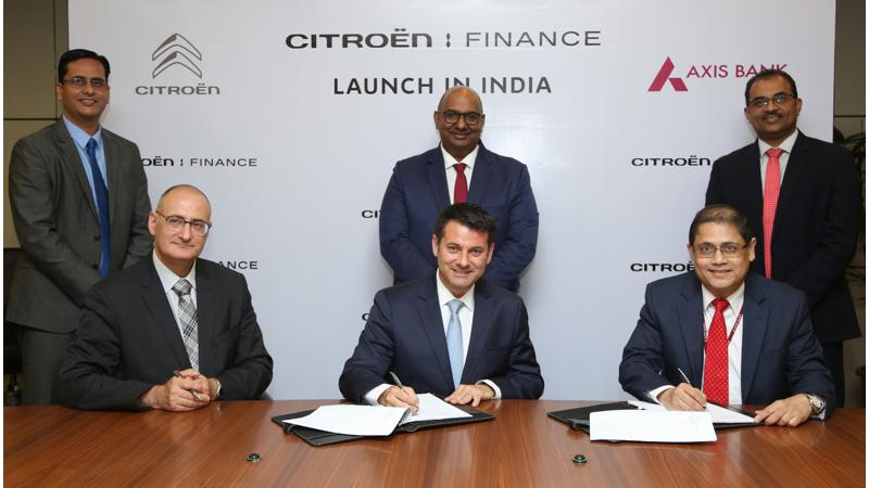 Citroen partners with Axis bank to launch Citroen finance in India