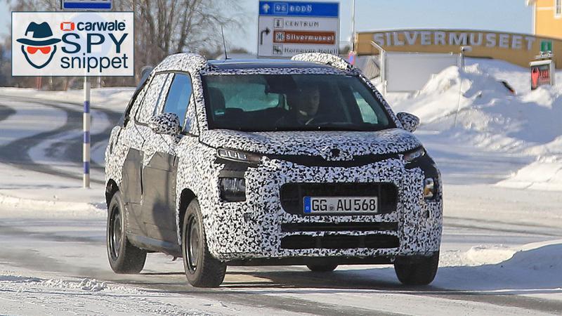 Next generation Citroen C3 Picasso MPV spied