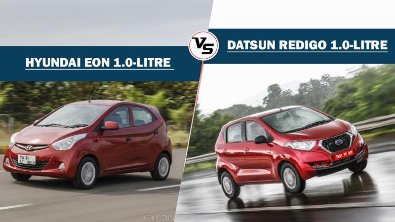 Hyundai Eon 1.0-litre Vs Datsun Redigo 1.0-litre: Spec comparison