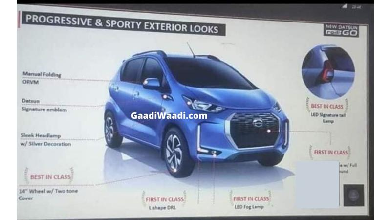 Datsun Redigo facelift details leaked ahead of India launch