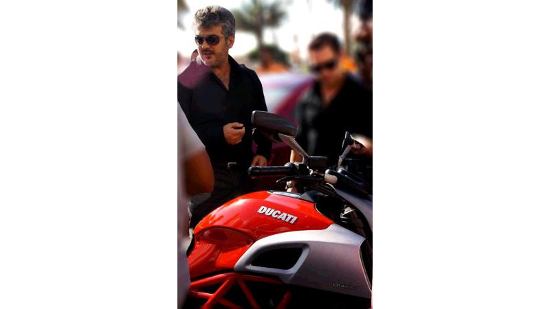 Southern actor Ajith to race a Ducati Diavel in Vishnu's film