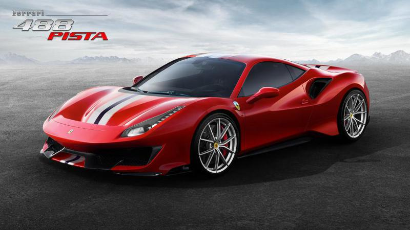 Ferrari 488 Pista powered by the most powerful V8