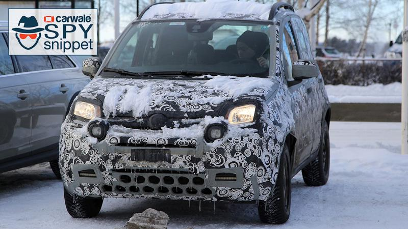 Facelifted Fiat Panda spotted testing
