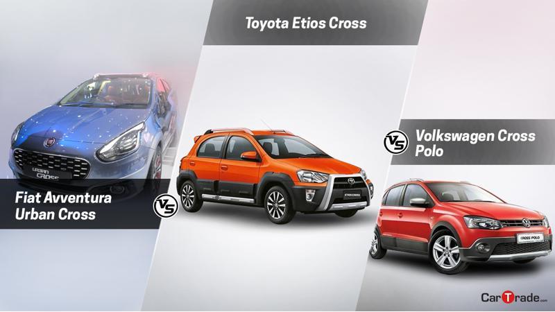 Spec comparo: Fiat Avventura Urban Cross Vs Volkswagen Cross Polo Vs Toyota Etios Cross