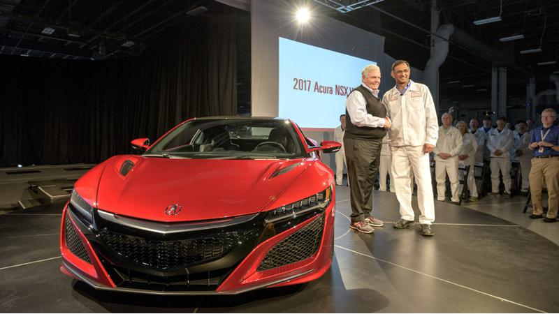 First production 2017 Honda NSX rolls off the assembly line