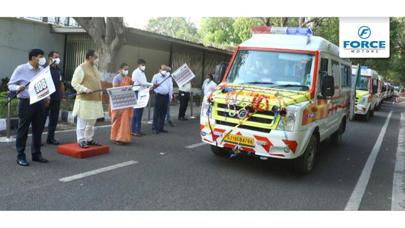 Force Motors delivers 150 Traveller Ambulances to the government of Gujarat