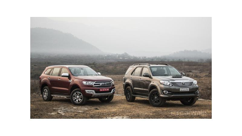 Ford Endeavour outnumbers the Toyota Fortuner in April