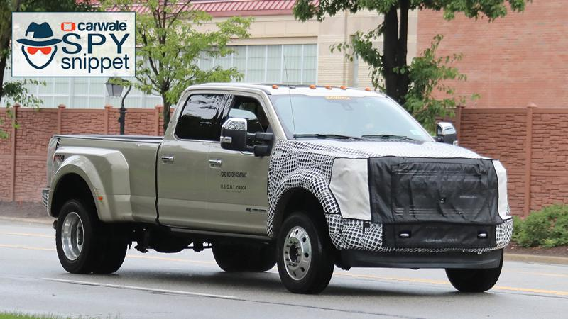 Ford spotted testing its F series Super Duty