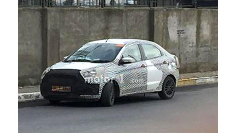 2018 Ford Aspire testing mule images surface