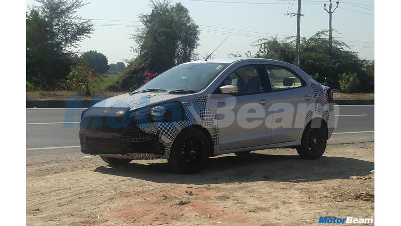 2018 Ford Aspire spied testing for the first time