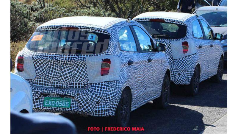 2018 Ford Figo spied testing in Brazil