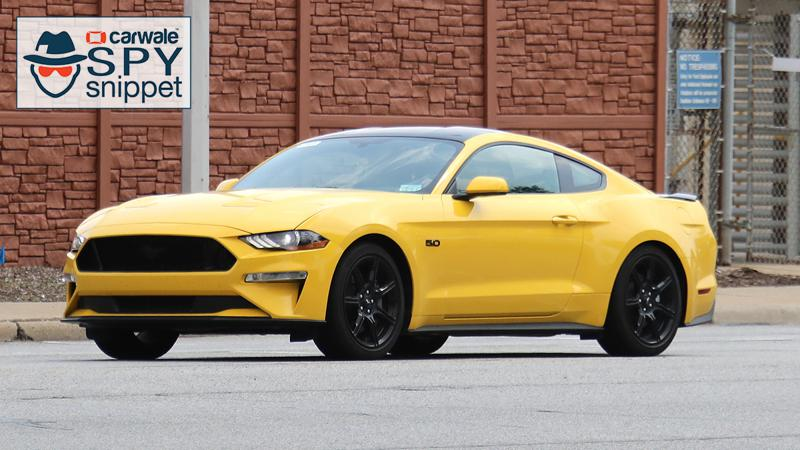 Ford spotted testing their new Mustang with Black Accent Package