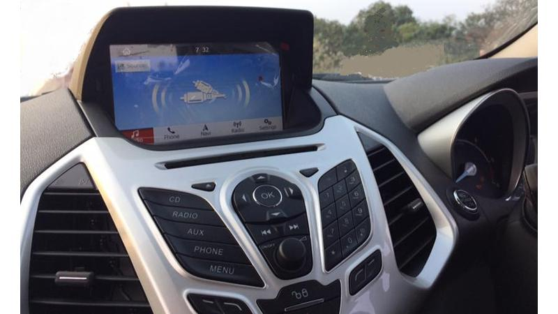 Upcoming Ford EcoSport with touch screen system snapped undisguised