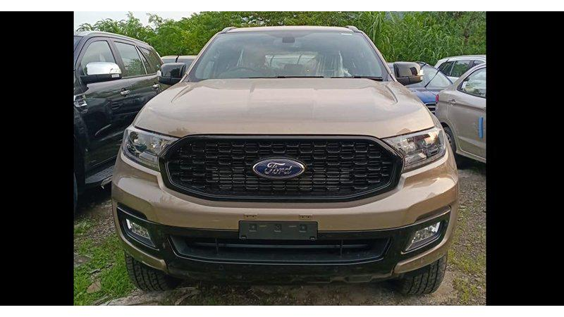 Ford Endeavour Sport spotted at dealership ahead of its official launch