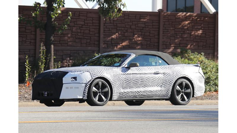 Updated Ford Mustang spied testing