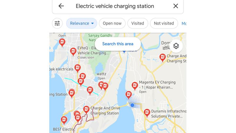 You can now search electric car charging stations on Google Maps