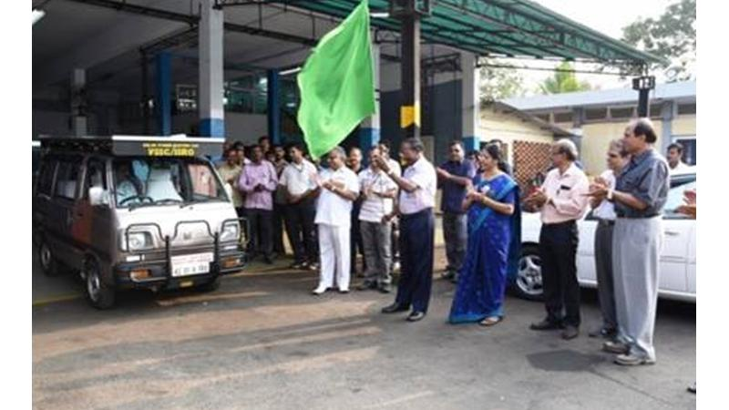 ISRO showcases Solar Hybrid Electric car