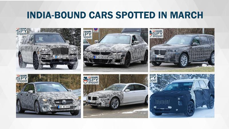 India-bound cars spied testing in March