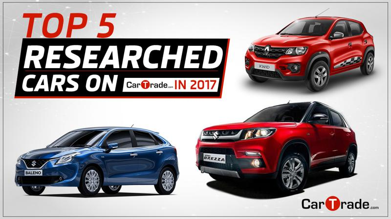 Top five researched cars on CarTrade in 2017