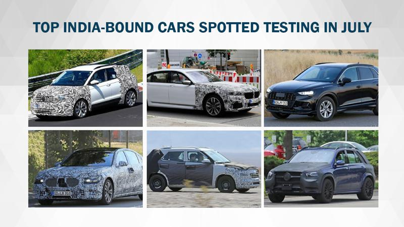 India bound cars spied in July