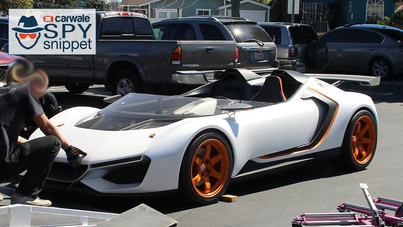 Spy shots unveil a new Honda sports car