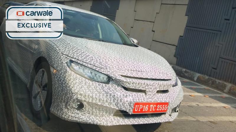 2019 Honda Civic spotted testing in Mumbai