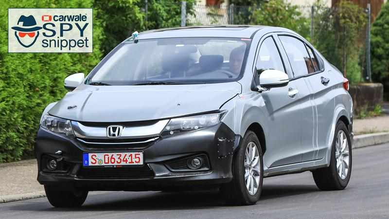 Camouflaged Honda City Hybrid test mule spotted in Europe