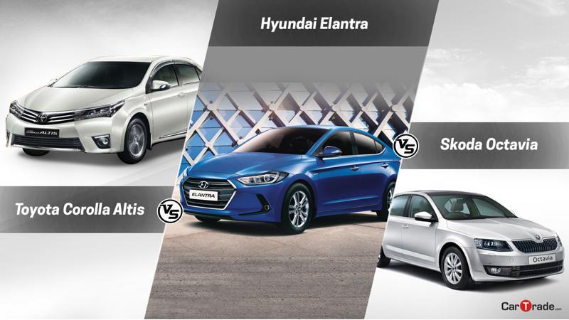 New Hyundai Elantra Vs Toyota Corolla Vs Skoda Octavia