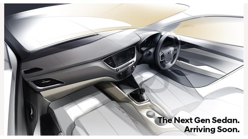 Hyundai teases the interior of new 2017 Verna