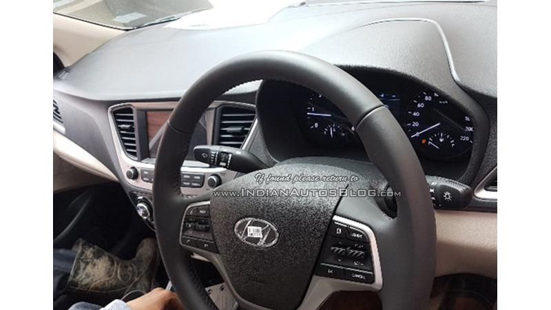 2017 Hyundai Verna interiors spied ahead of launch