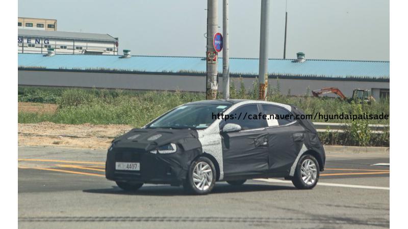 New-generation Hyundai Grand i10 spied testing