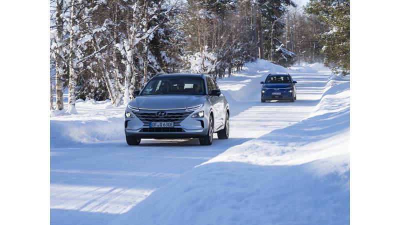 Electric versions of Hyundai Kona and NEXO undergo extreme cold weather testing